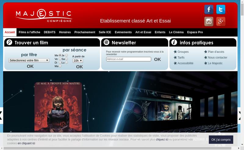 Capture d'écran du site de Majestic Compiegne