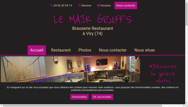 Capture d'écran du site de Le Majk Gruff S