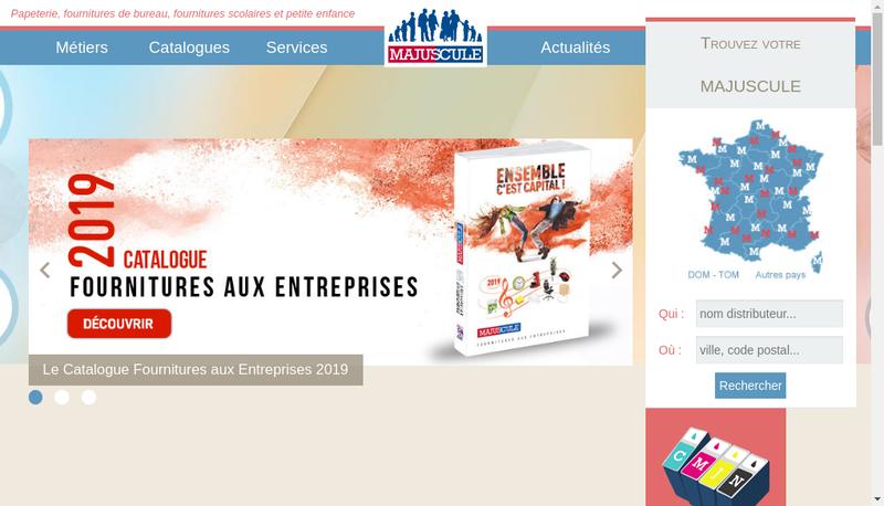 Capture d'écran du site de Bleu Office