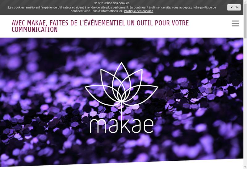 Capture d'écran du site de Makae