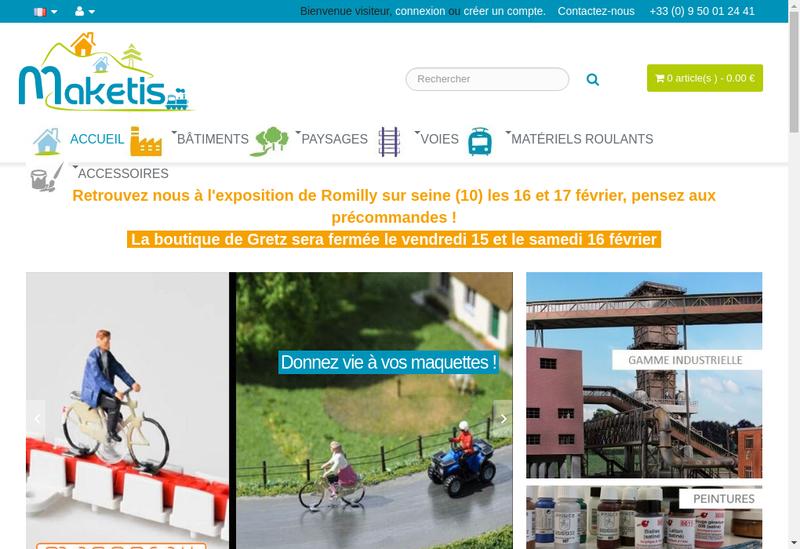 Capture d'écran du site de Maketis