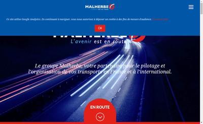 Site internet de SAS Malherbe Transports