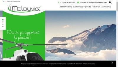 Site internet de Malouvis SAS