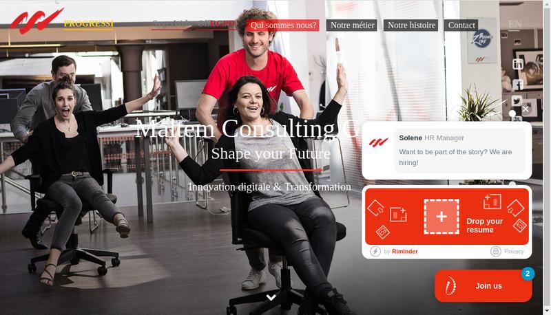 Capture d'écran du site de Maltem Consulting Group