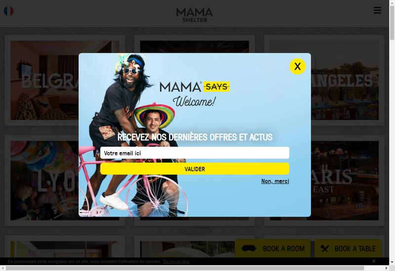 Capture d'écran du site de Mama Marseille