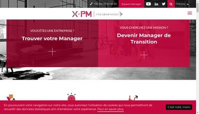 Site internet de X-Pm Transition Partners