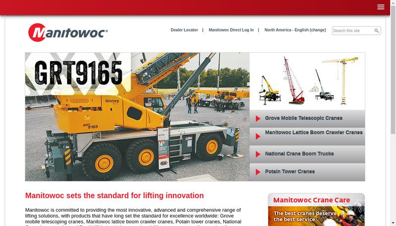 Site internet de Manitowoc Crane Group France Ou Mcg France