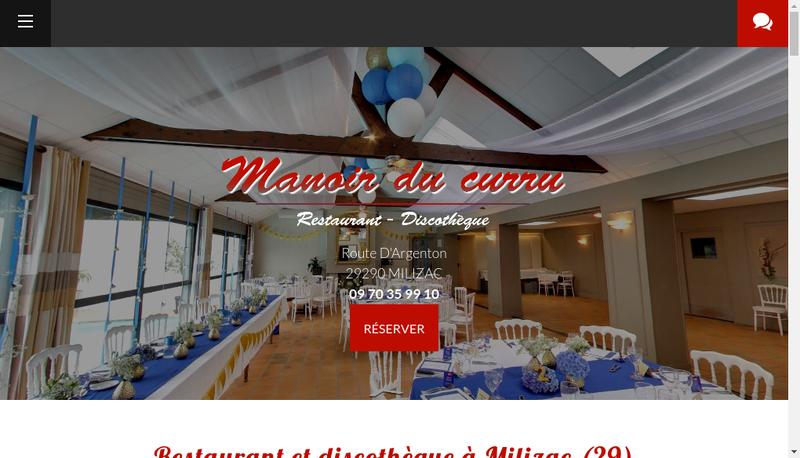 Capture d'écran du site de Manoir du Curru