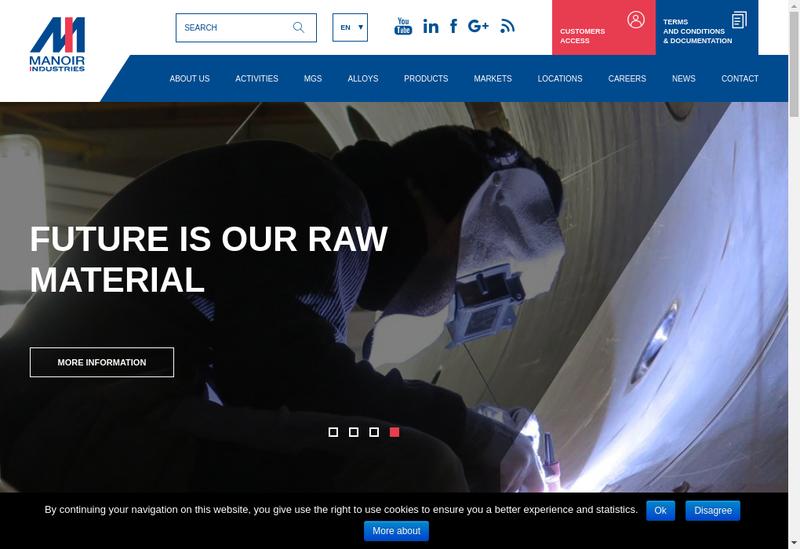 Capture d'écran du site de Manoir Group