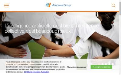 Site internet de Manpowergroup Solutions