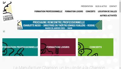Site internet de Acp la Manufacture Chanson