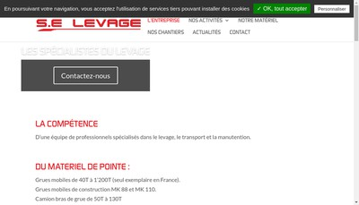Site internet de Se Levage