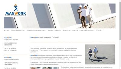 Site internet de Manwork