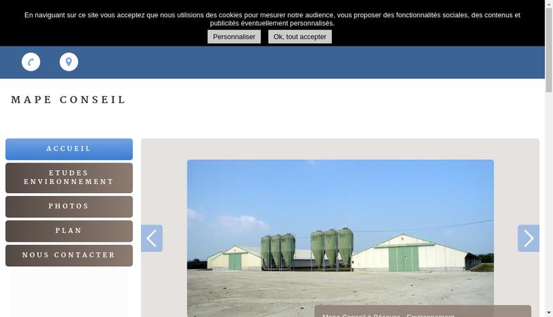 Capture d'écran du site de Mape Conseil