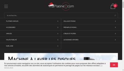 Capture d'écran du site de Maplatine Com