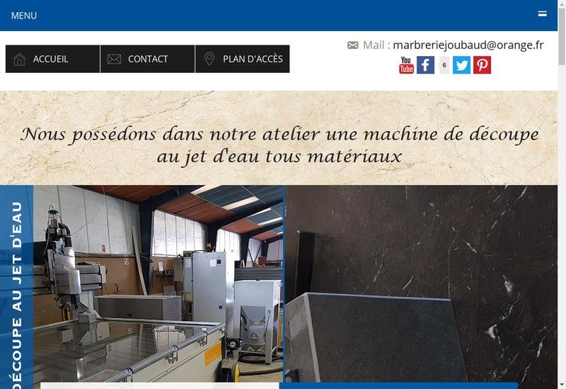 Capture d'écran du site de SARL Marbrerie Joubaud