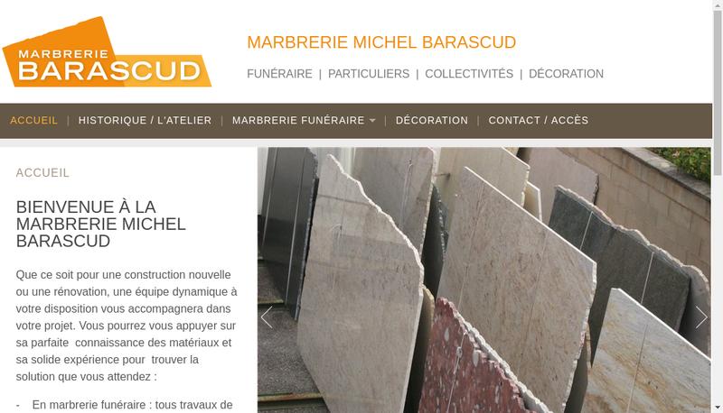Capture d'écran du site de Michel Barascud Monuments Roujon