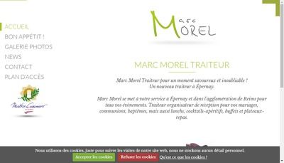 Site internet de Marc Morel Traiteur