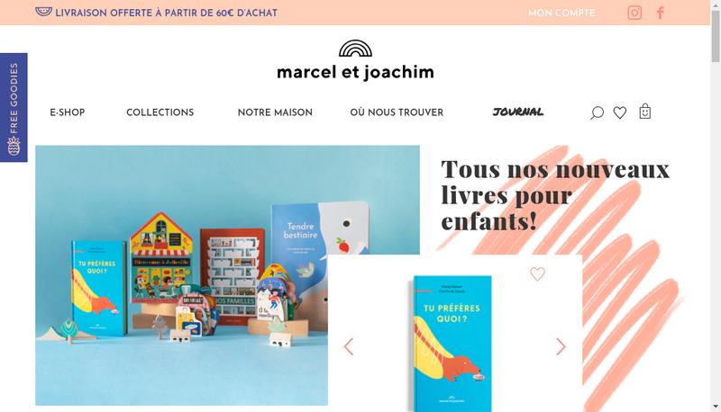 Capture d'écran du site de Marcel & Joachim