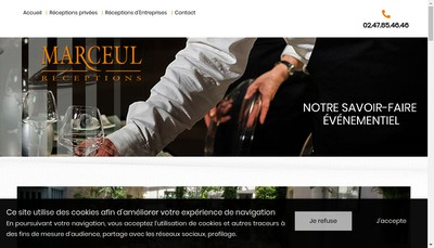 Site internet de Marceul Receptions