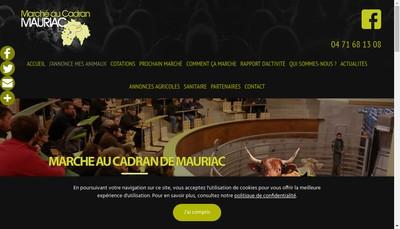 Site internet de Marche au Cadran de Mauriac