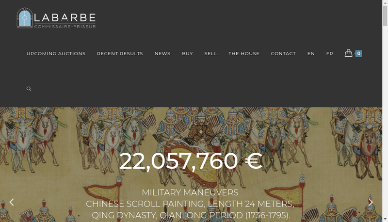 Capture d'écran du site de Marc Labarbe