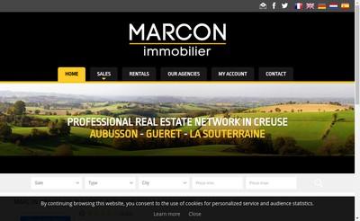 Site internet de Century 21-Marcon Immobilier