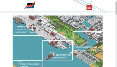 Site internet de Cie Maritime Marfret