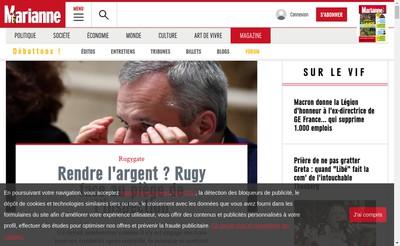 Site internet de Marianne