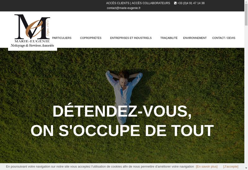 Capture d'écran du site de Marie Eugenie
