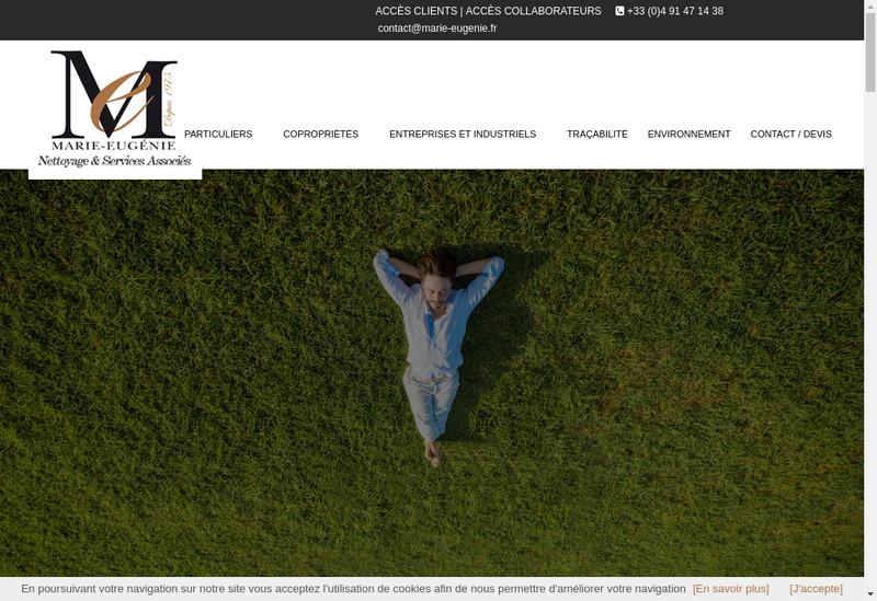 Capture d'écran du site de Marie-Eugenie