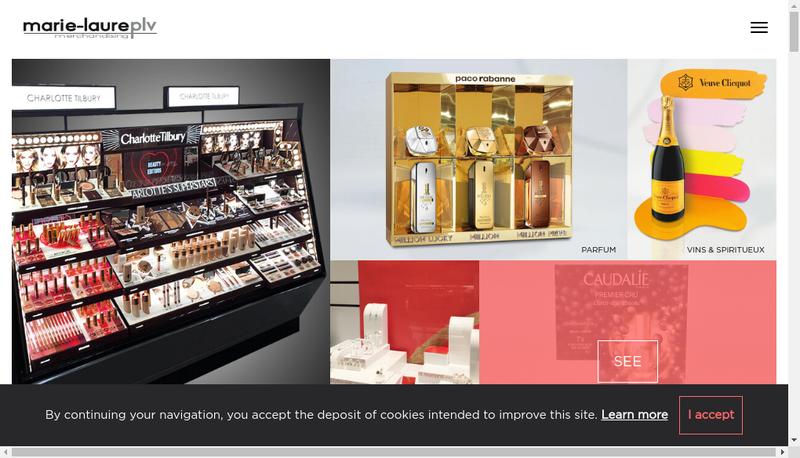 Capture d'écran du site de Marie-Laure Plv - Marie-Laure Merchand