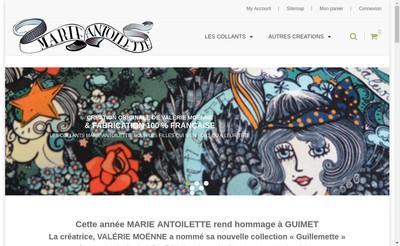 Site internet de Marie Antoilette