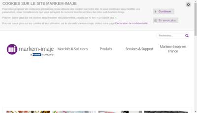 Capture d'écran du site de Markem Imaje SAS