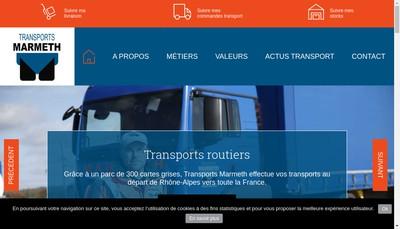 Site internet de Transports Marmeth