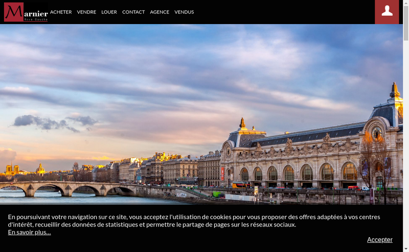 Capture d'écran du site de Marnier