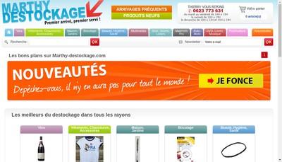 Site internet de Marthy Destockage