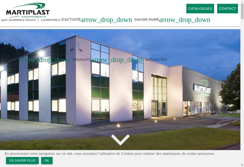 Capture d'écran du site de Martiplast