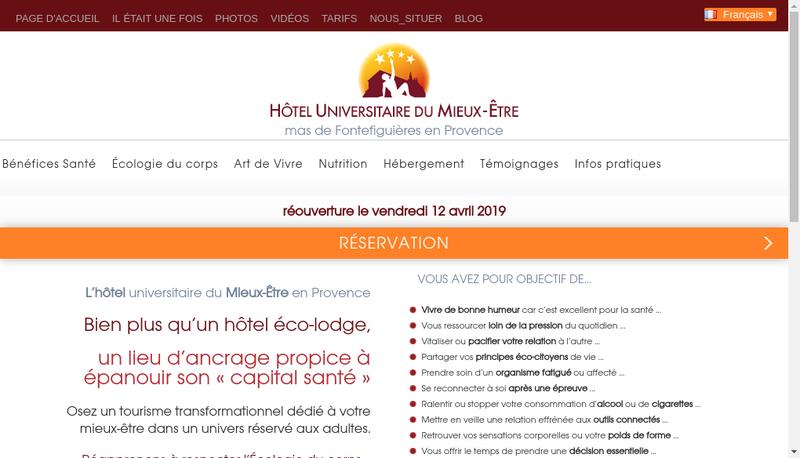 Capture d'écran du site de Mas de Fontefiguieres