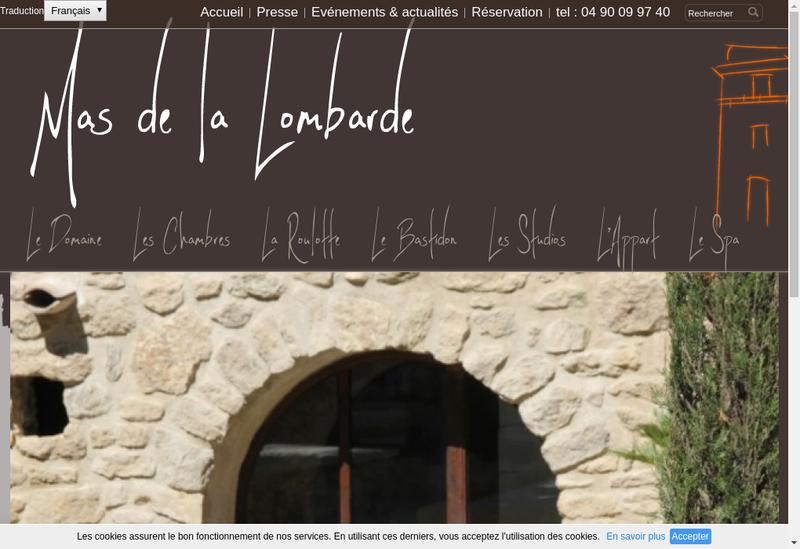 Capture d'écran du site de Lombarde