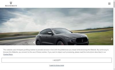 Site internet de Maserati