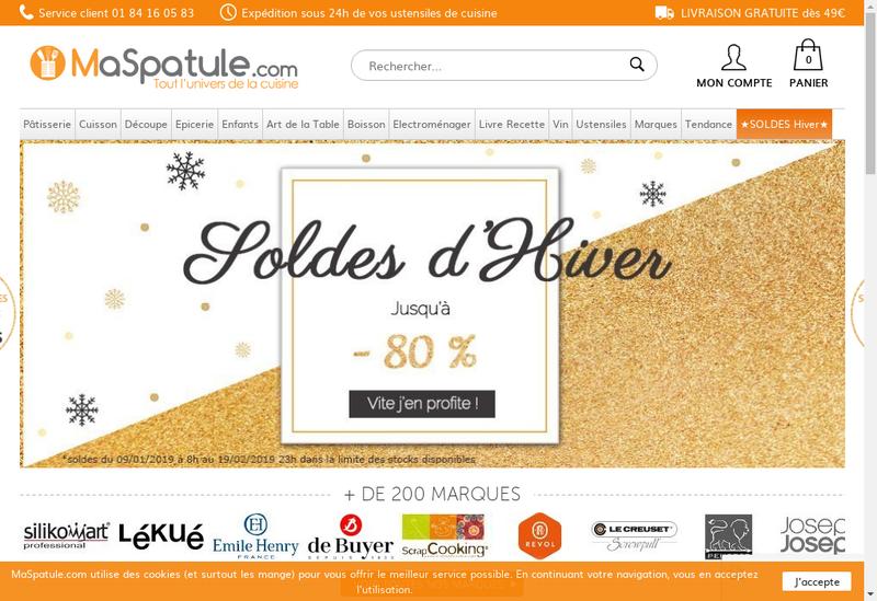 Capture d'écran du site de Maspatule