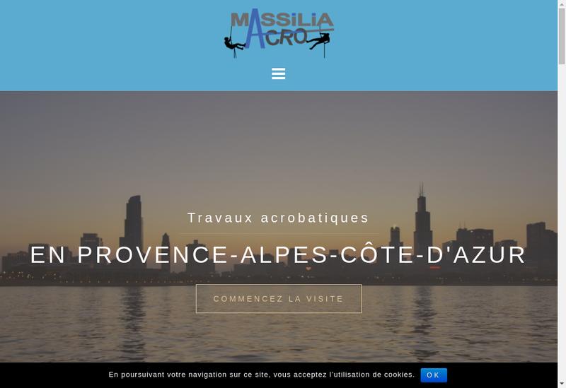 Capture d'écran du site de Massilia Acro