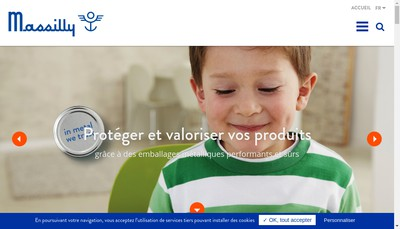 Site internet de Massilly Holding