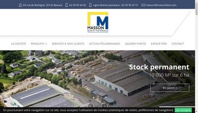 Site internet de Masson Bois et Materiaux Fougerais