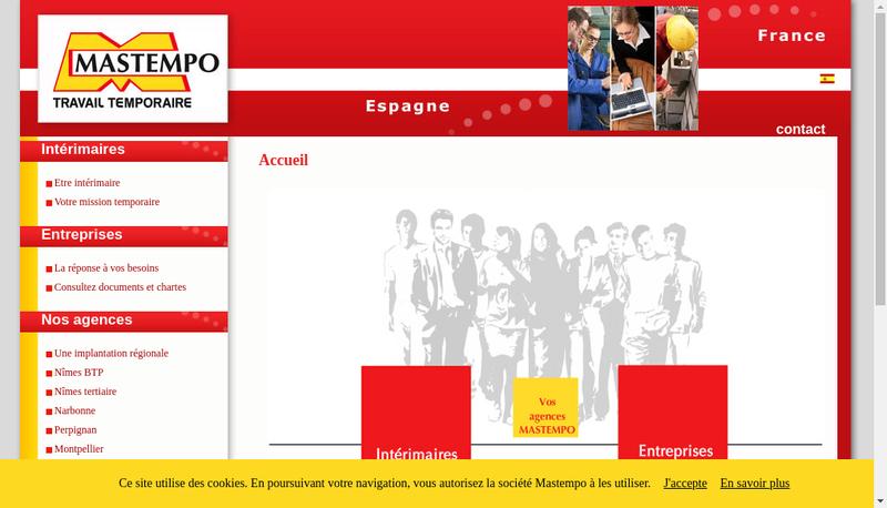 Capture d'écran du site de Mastempo