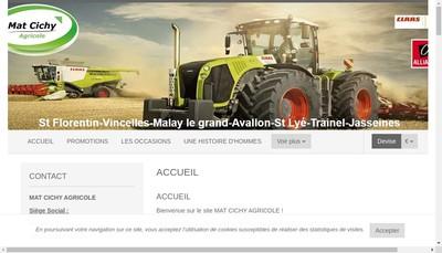 Site internet de Mat Cichy Agricole (Mca)