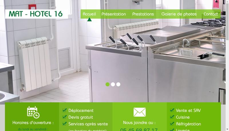 Capture d'écran du site de Mat-Hotel 16