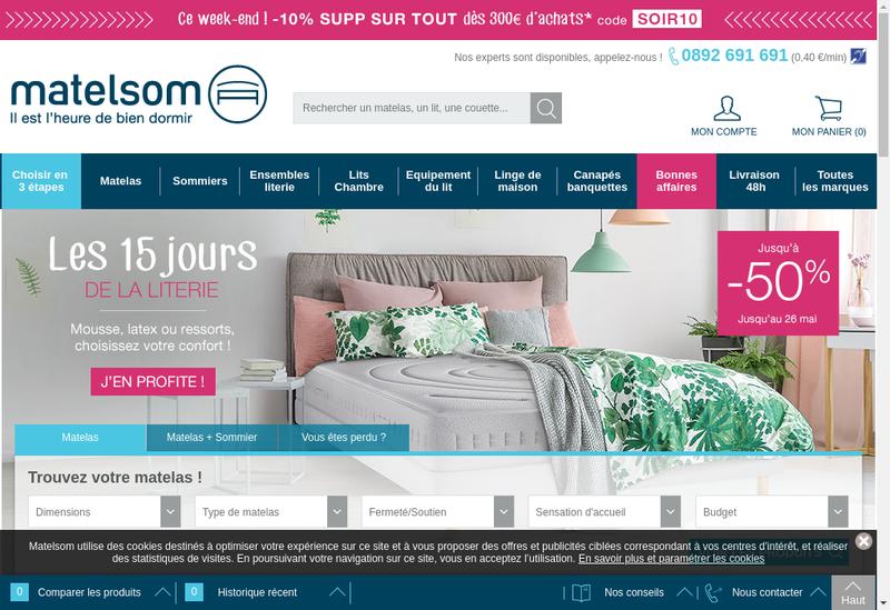 Capture d'écran du site de Meuble