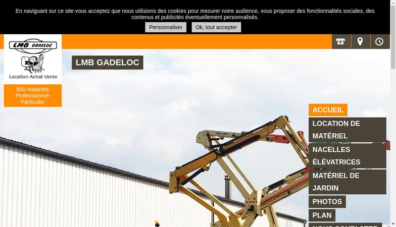 Capture d'écran du site de Lmb Gadeloc